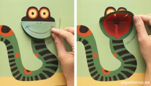 Serpiente bostezando Libros de animales para niños
