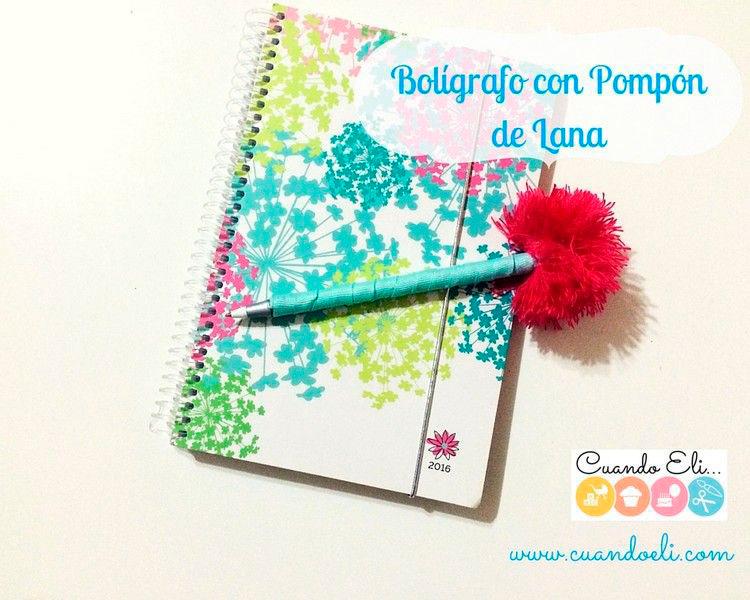 Bolígrafo-con-Pompón-de-Lana