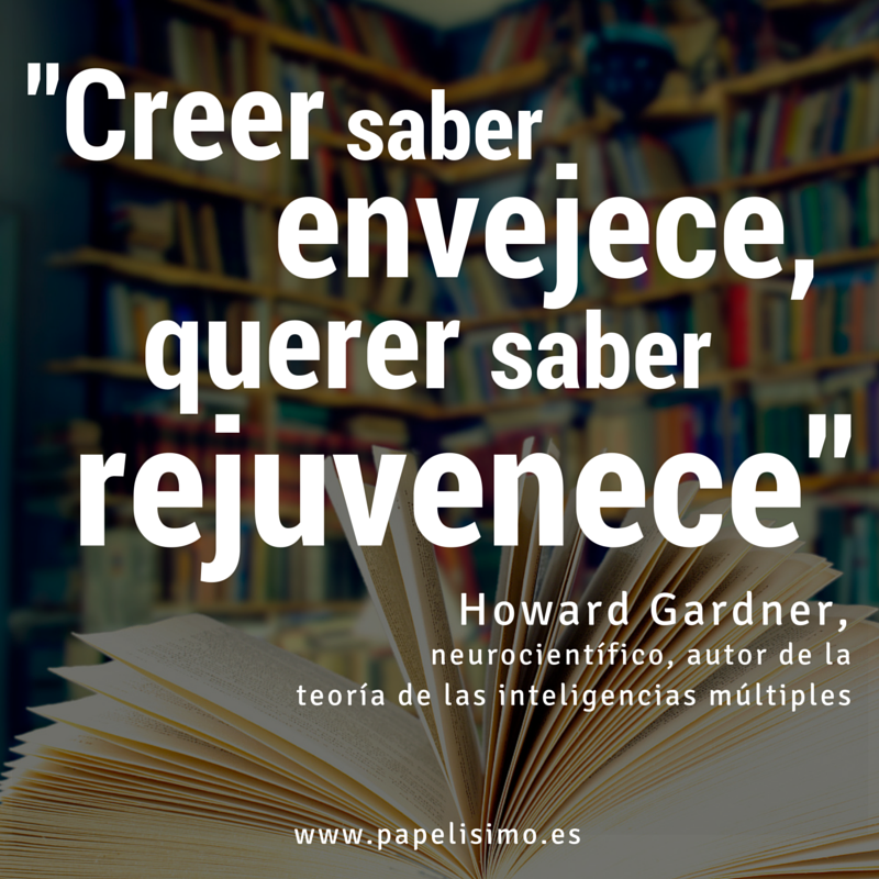 Frases sobre inteligencia Howard Gardner