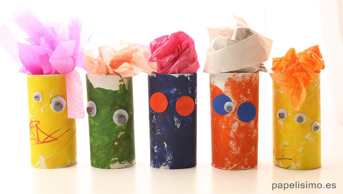 Monstruos-con-rollos-de-papel-higienico