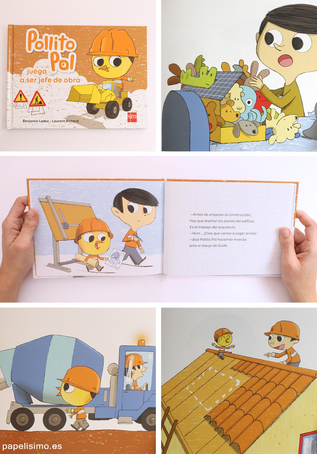 Pollito-Pol-jefe-de-obra-Libros-para-niños-profesiones