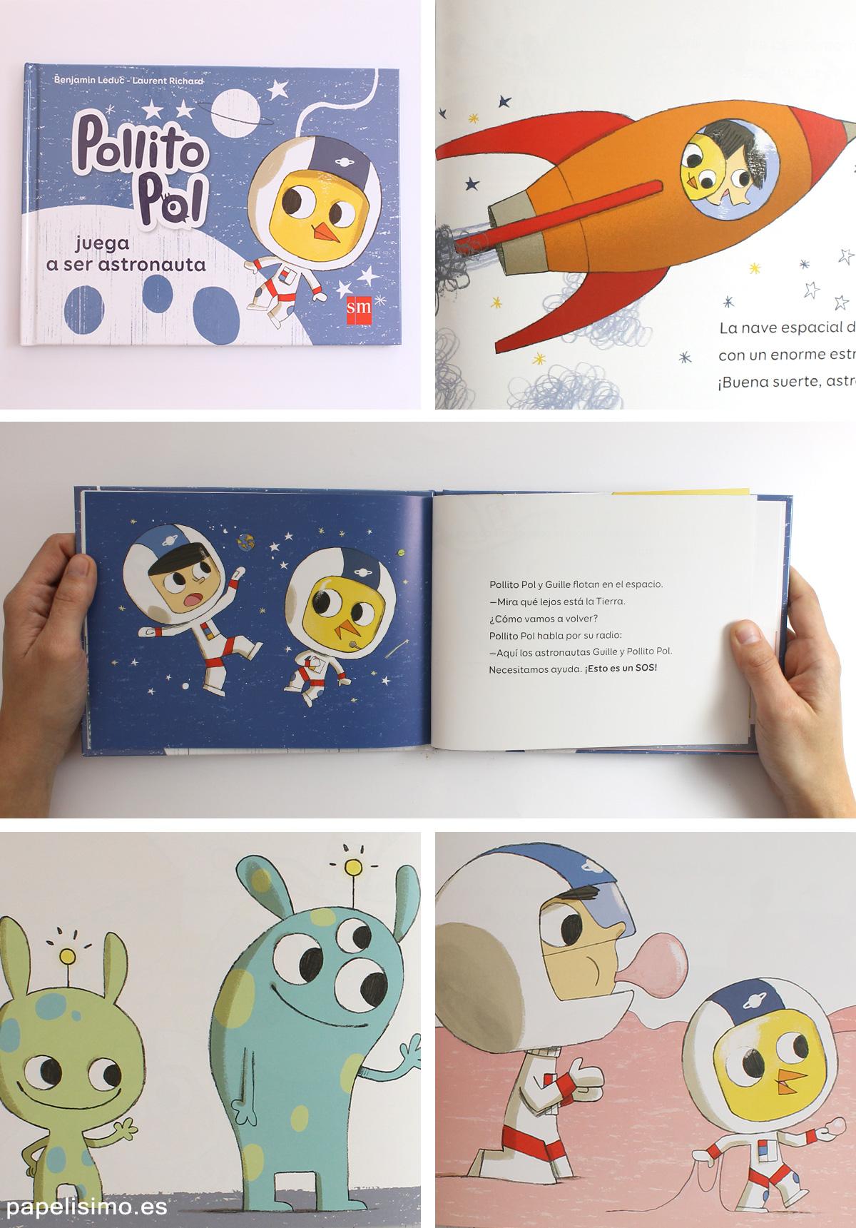 Pollito-Pol-juega-a-ser-astronauta-Libros-para-niños-profesiones