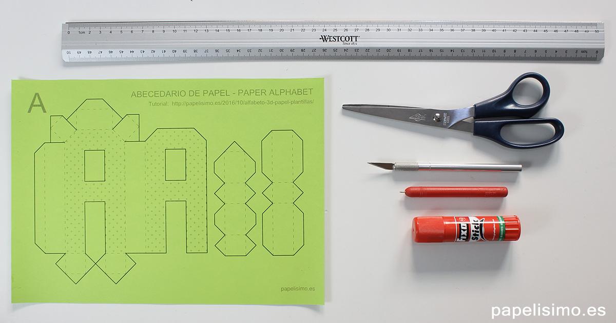 Cómo hacer letras 3D de papel o cartulina (Abecedario A-Z) - PAPELISIMO