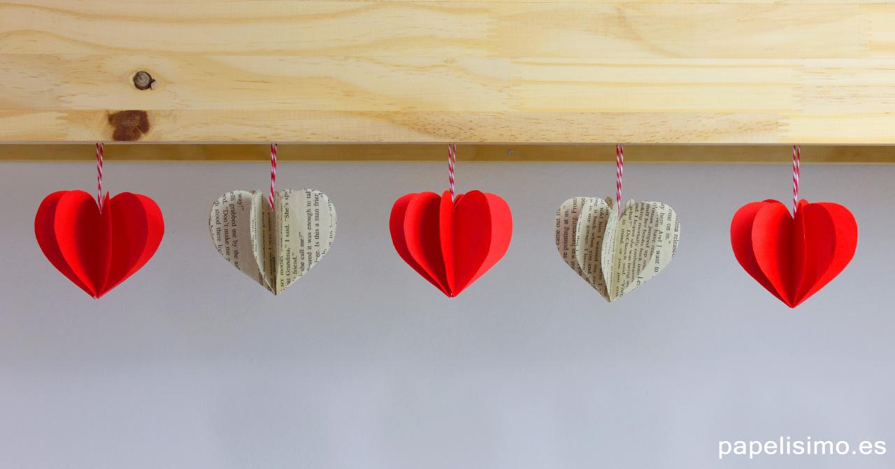 Cómo-hacer-corazones-3D-de-papel-origami-paper-hearts