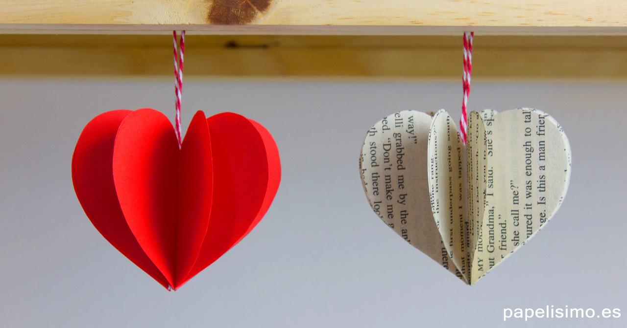Corazones-3D-de-papel-paper-hearts