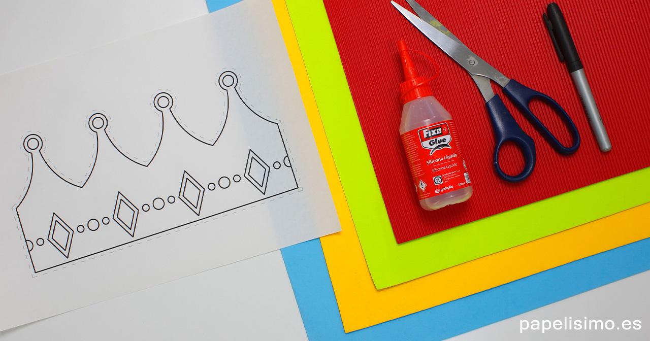 Corona-de-goma-eva-materiales-y-plantilla