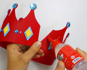 Corona goma eva foamy diy king crown