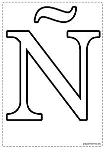 Ñ Abecedario letras grandes imprimir mayúsculas