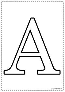 A Abecedario letras grandes imprimir mayúsculas