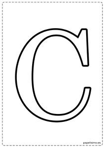 C Abecedario letras grandes imprimir mayúsculas