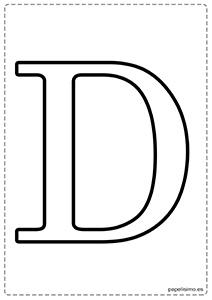 D Abecedario letras grandes imprimir mayúsculas