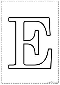 E Abecedario letras grandes imprimir mayúsculas