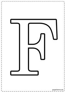 F Abecedario letras grandes imprimir mayúsculas