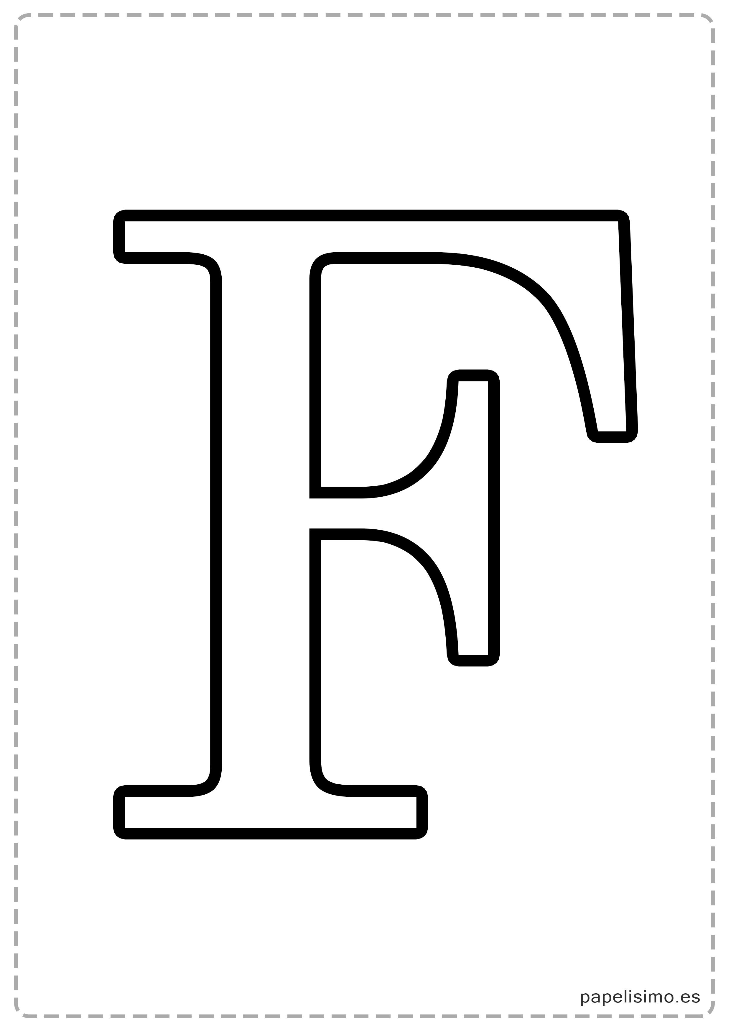 Letras grandes para imprimir papelisimo - Letras para letreros grandes ...