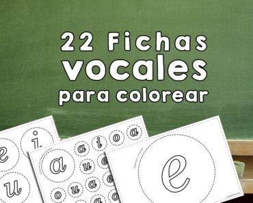 Fichas vocales para imprimir y colorear pdf