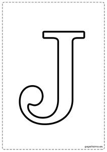 J Abecedario letras grandes imprimir mayúsculas