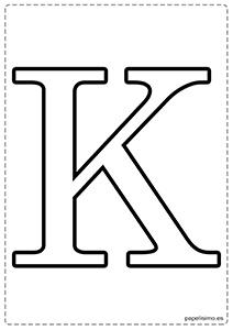 K Abecedario letras grandes imprimir mayúsculas