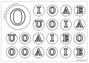 LETRA O Vocales para imprimir mayusculas colorear iguales