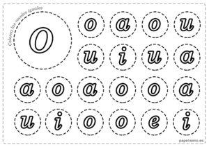LETRA O Vocales para imprimir minusculas colorear iguales