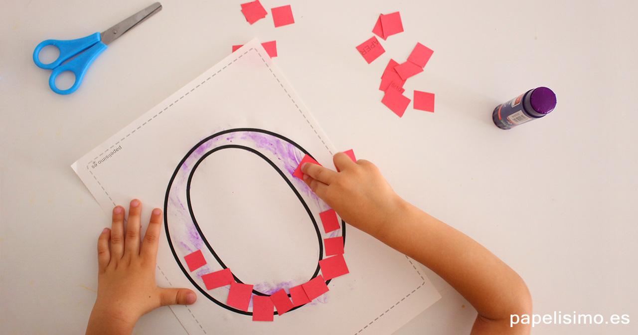 Manualidades-con-letras-para-niños-collage-papel