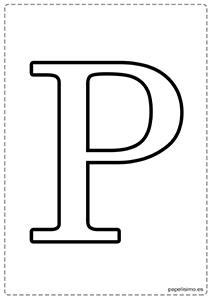 P Abecedario letras grandes imprimir mayúsculas