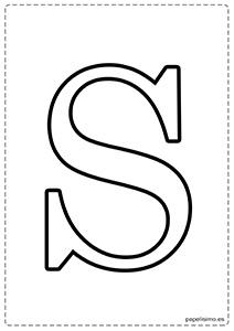 S Abecedario letras grandes imprimir mayúsculas
