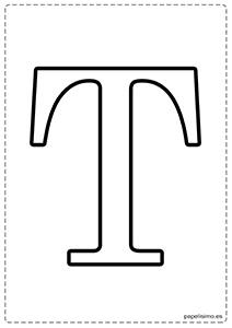 T Abecedario letras grandes imprimir mayúsculas