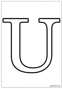 U Abecedario letras grandes imprimir mayúsculas