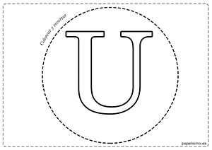 U-Vocales-para-imprimir-grandes-mayúsculas