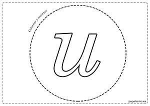 U-Vocales-para-imprimir-grandes-minúscula