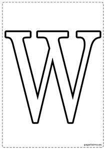 W Abecedario letras grandes imprimir mayúsculas