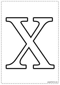 X Abecedario letras grandes imprimir mayúsculas