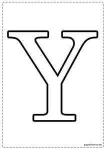 Y Abecedario letras grandes imprimir mayúsculas