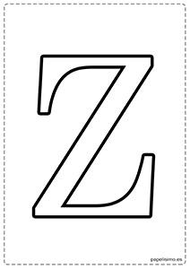 Z Abecedario letras grandes imprimir mayúsculas