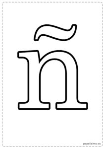 Ñ-Abecedario-letras-grandes-imprimir-minusculas