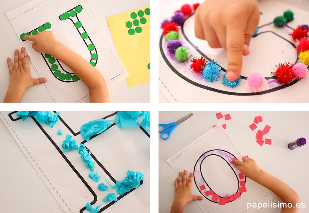 Manualidades-con-letras-para-niños