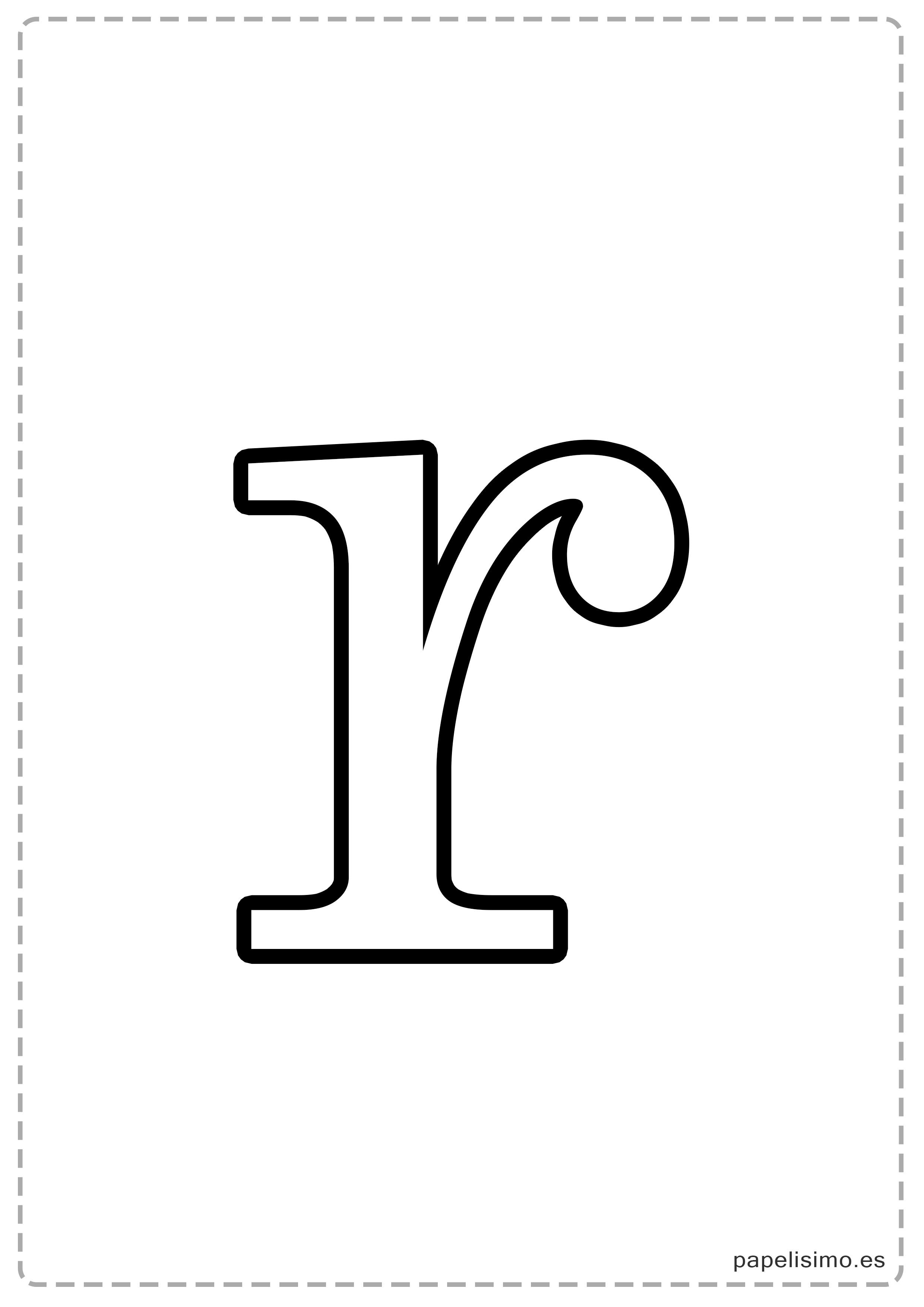 Letras Grandes Para Imprimir Minusculas Papelisimo