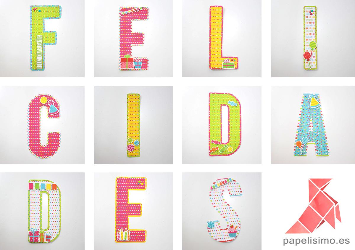 Guirnalda de cumpleaños (con letras para recortar) - PAPELISIMO