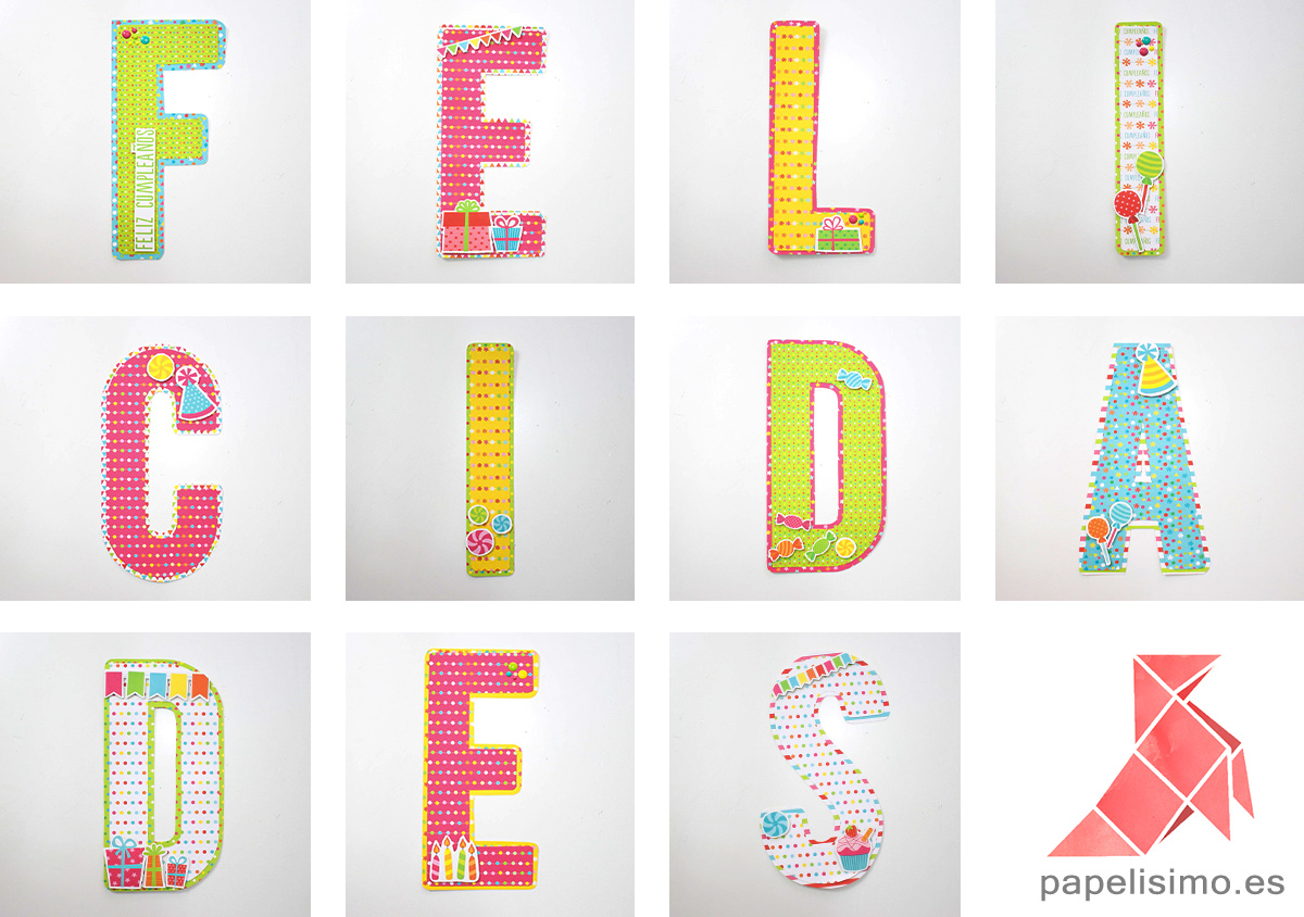 Abecedario scrapbooking alphabet
