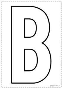 B letras para recortar y pegar guirnalda feliz cumpleaños