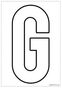 G letras para recortar y pegar guirnalda feliz cumpleaños