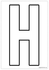 H letras para recortar y pegar guirnalda feliz cumpleaños