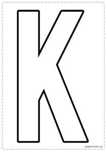 K letras para recortar y pegar guirnalda feliz cumpleaños