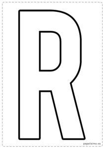 R letras para recortar y pegar guirnalda feliz cumpleaños