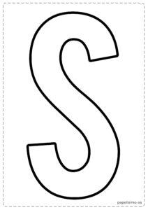 S letras para recortar y pegar guirnalda feliz cumpleaños