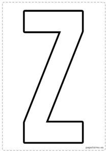 z letras para recortar y pegar guirnalda feliz cumpleaños