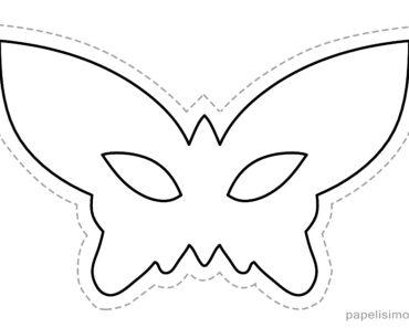 1 máscaras de goma eva para recortar MARIPOSA niños