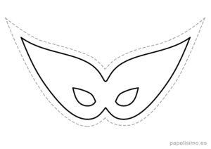 2 máscaras de goma eva para recortar DISFRAZ niños