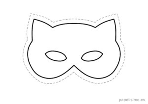 4 máscaras de goma eva para recortar GATO niños