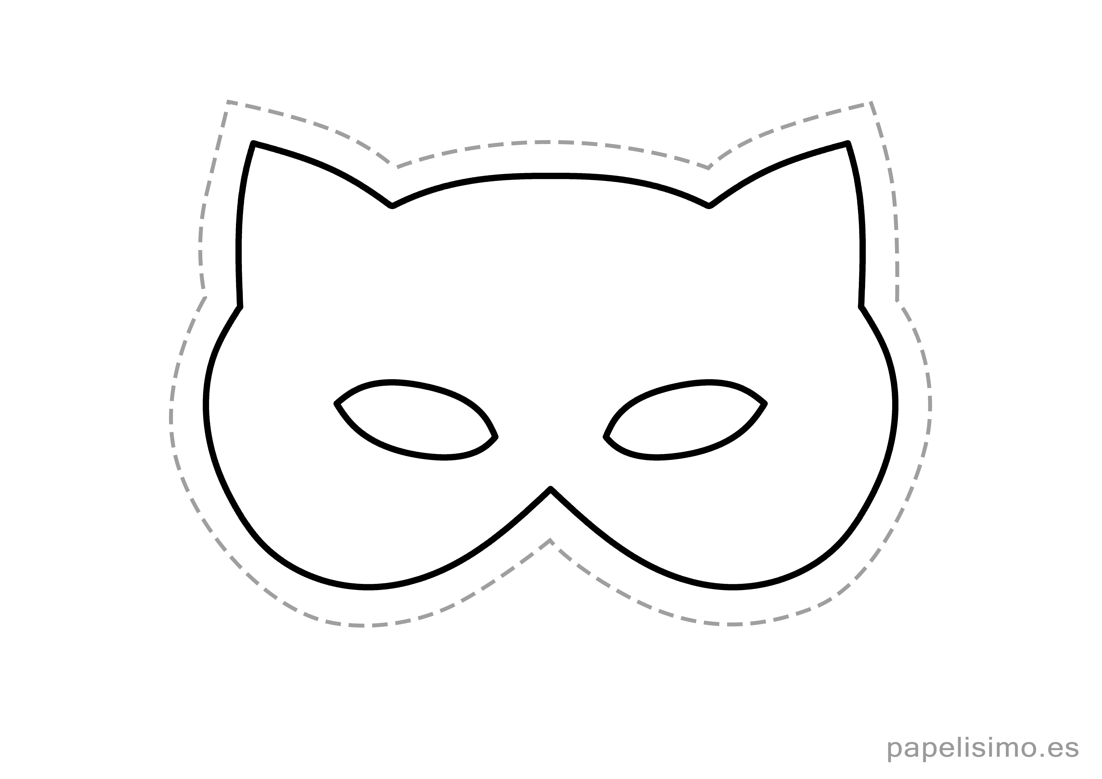 9 Mascaras De Goma Eva Para Imprimir Y Recortar Papelisimo